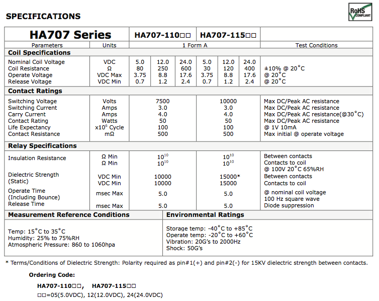 HA707 Series B